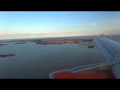 easyJet A320 landing Venice Marco Polo Airport