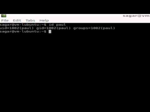 How to find uid, gid and group id of a user in Linux