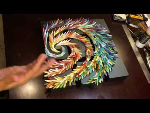 Hurricane Ko - Paper Sculpture