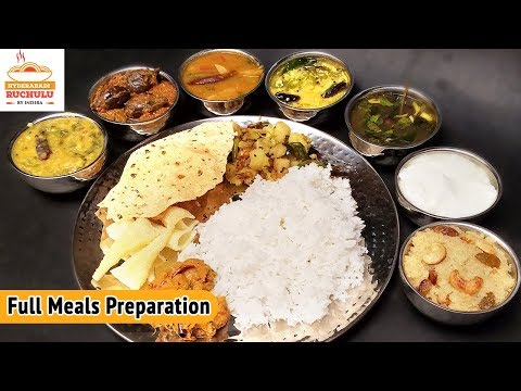 Full Meals | South Indian vegetarian Lunch Menu | Easy Full Meals Preparation | How to Meal Prep
