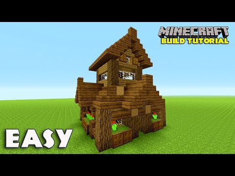 Minecraft: How To Build A Small Survival House Tutorial (Easy survival house ) (Medieval) 2016