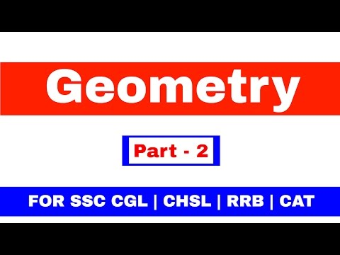 Geometry For SSC CGL | CHSL | CAT | RRB [ In Hindi] Pat - 2