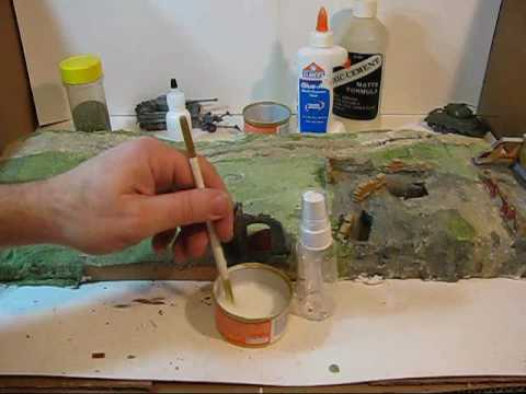 How to Make a World War 2 Diorama Part 4: Trees and Terrain