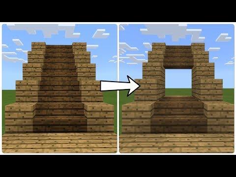Minecraft PE Smallest Possible Hidden Staircase Door (PE/Xbox/Windows10/Switch)