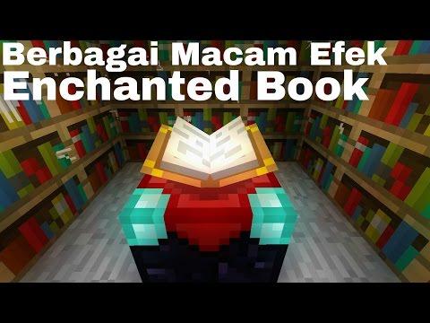 Minecraft PE [0.16.0] Indonesia Berbagai Efek dari Enchanted Book (All Enchanted Book Effect)