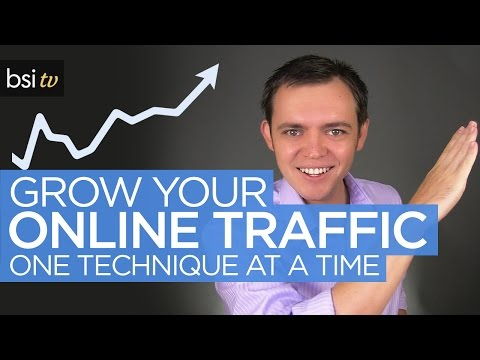 Increase Online Traffic to Your Website - One Technique at a Time