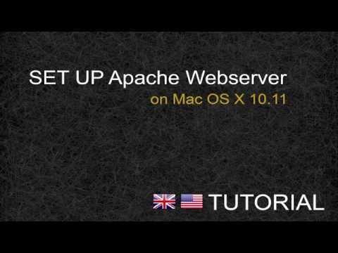 Set up apache webserver Mac OS X 10.11 - Tutorial [ENG]
