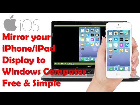How to Mirror iPhone/ iPad Screen/ Display to Windows PC (Free, easy & simple)