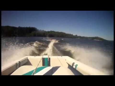 Water Ski Boat Crash!
