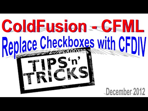 Using ColdFusion CFDIV to Replace Checkboxes