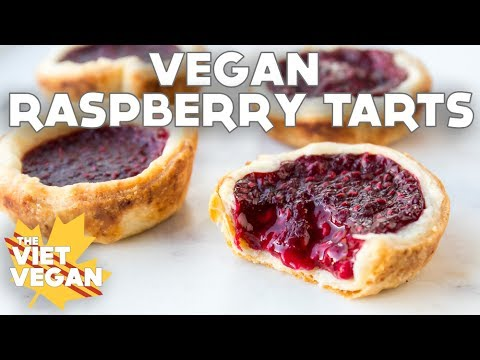 Vegan Raspberry Tarts with My Brother!