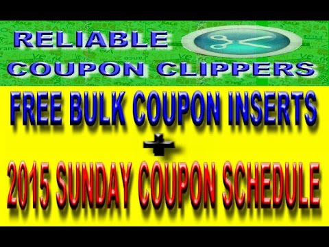 FREE BULK COUPON INSERTS -  2015 INSERT SCHEDULE - INSERT PREVIEWS ( EXTREME COUPONING )
