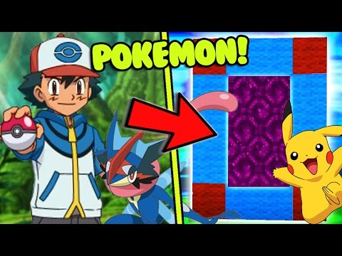 HOW TO MAKE A PORTAL TO THE POKEMON DIMENSION - MINECRAFT POKEMON