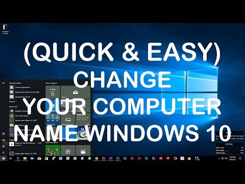 How To Change Your Computer Name | Desktop or Laptop