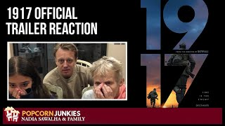 1917 Official Trailer - Nadia Sawalha & The Popcorn Junkies FAMILY Reaction