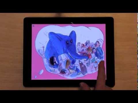 'The Slightly Annoying Elephant' fully animated eBook made with Apple's iBooks Author