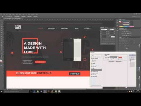Web Design Speed Art - Made with Love