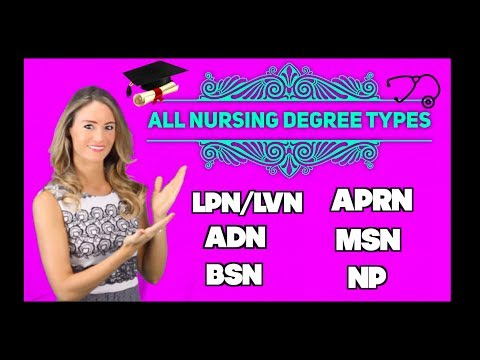 All Nursing Degree Types: LPN/LVN, ADN, BSN, APRN, MSN & NP!