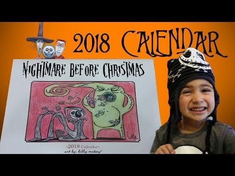 Disney's Nightmare Before Christmas 2018 Calendar Jack Skellington Oogie Boogie Sally Zero and More!