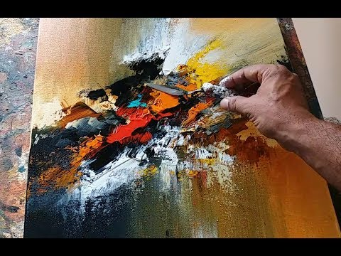 Abstract painting / EASY / Blending / Palette knife demonstration