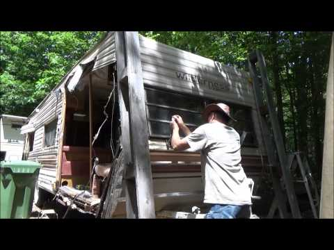 Demolishing My Camper To Use The Frame For A Tiny House