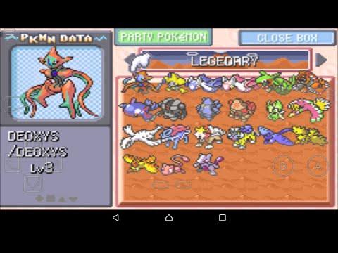 Pokemon Sapphire All legendary pokemon cheats codes