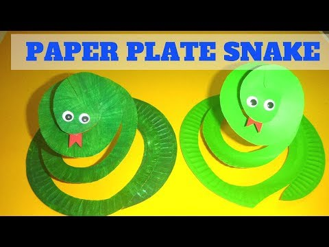 Paper Plate Crafts for Kids | How to Make a Paper Plate Snake