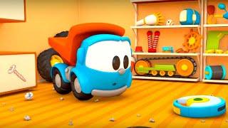 ГРУЗОВИЧОК Лева малыш. Мультики про машинки для детей. Серия: КОНСТРУКТОР РОБОТ- пылесос