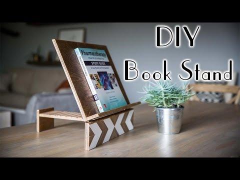 DIY Geometric Book Stand