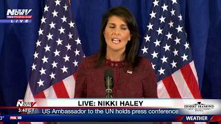 FNN LIVESTREAM 9/21/17: New North Korea Sanctions - UN Ambassador Nikki Haley Press Conference
