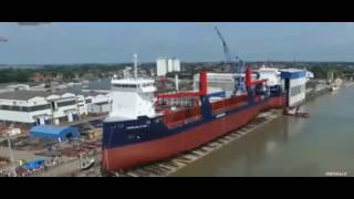big ship coming sea in the great world amazing and intresting video