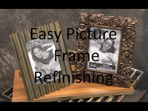 Easy Picture Frame Refinishing