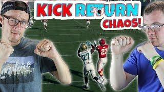 BEST ROOKIE BATTLE EVER!? HUNT vs FOURNETTE!! Madden 18 Kick Return Chaos