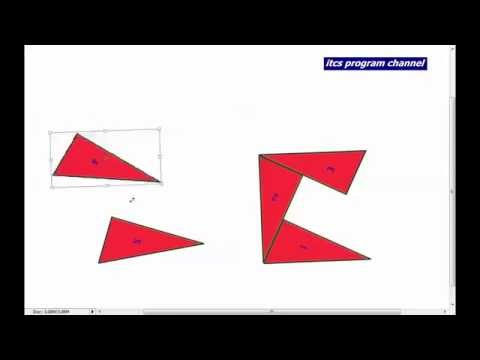 puzzle : make a square by 5 triangle