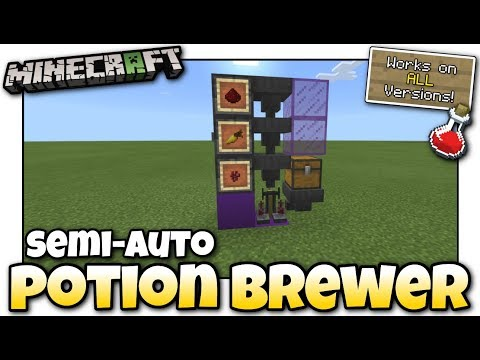 Minecraft - SEMI AUTO POTION BREWER  [ Redstone Tutorial ] Works on ALL Versions !