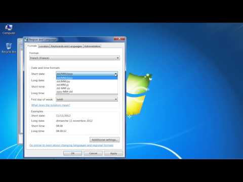 How to Change Time Display in Windows 7