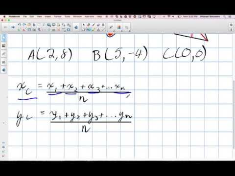 Shortcut to Find the Centroid of a Triangle Grade 10 Academic Lesson 3 3 10 20 14