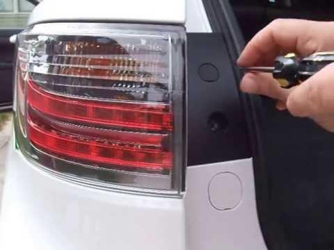 Replacing rear turn signal bulb video. Lexus CT200h hybrid 2011, 2012