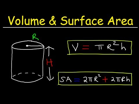 Volume of a Cylinder and Surface Area of a Cylinder