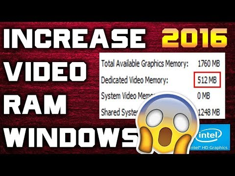 How to increase dedicated vRam on intel HD Graphics (without BIOS) 2017 METHOD 100% Working