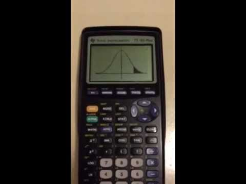 How to find the Z-score and area under the normal distribution TI-83 Plus