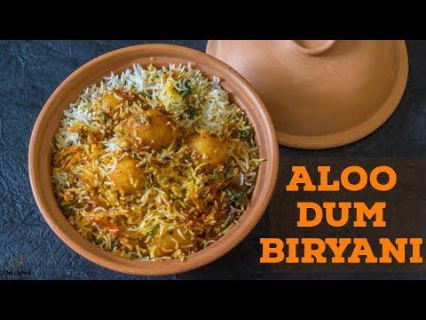 Aloo Dum Biryani recipe-Potato Biryani-आलू दम बिरयानी- Kalimirchbysmita-Ep296