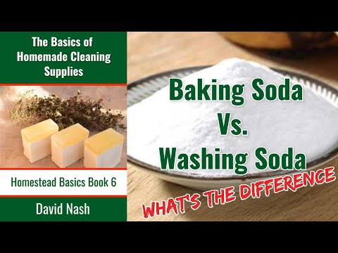Difference Between Baking and Washing Soda
