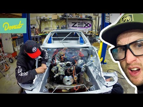Drift Corvette -Picking Up The Chassis and Mounting the Powertrain | Field Prep Ep14 | Donut Media