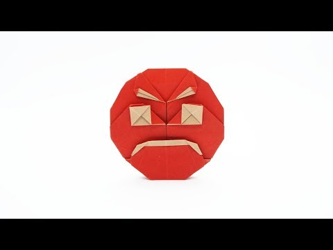 ORIGAMI ANGRY EMOJI 😡 (Jo Nakashima) + giveaway