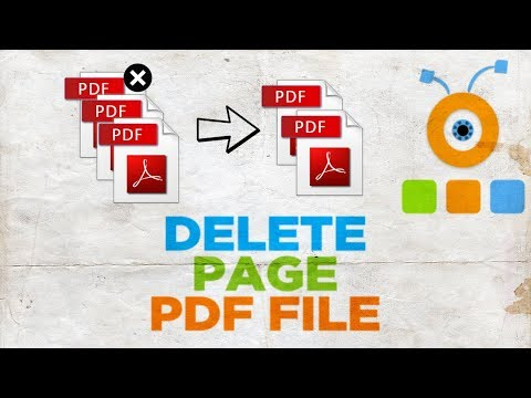 How to Delete a Page from a PDF File   How To Remove Page in PDF File