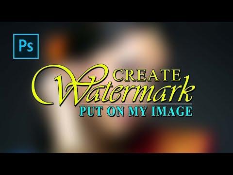How To Create Watermark In Photoshop | Make Watermark Put On My Image