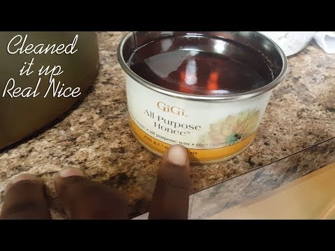 How to Clean Facial Wax off your Kitchen Countertop