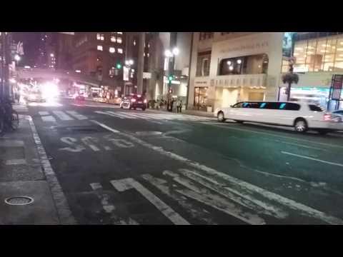 FDNY EMS Responding On East 42nd Street In Manhattan, New York
