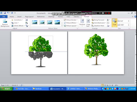 How to Print One Image in Two Paper using Microsoft Word